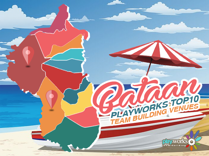 Infographic on 10 Top Team Building Venues in Morong and Bagac, Bataan