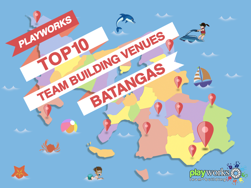 Infographic of the top ten team building venues in Batangas