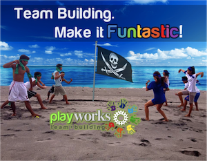 Corporate Team Building at the Beach with PlayWorks Team Building